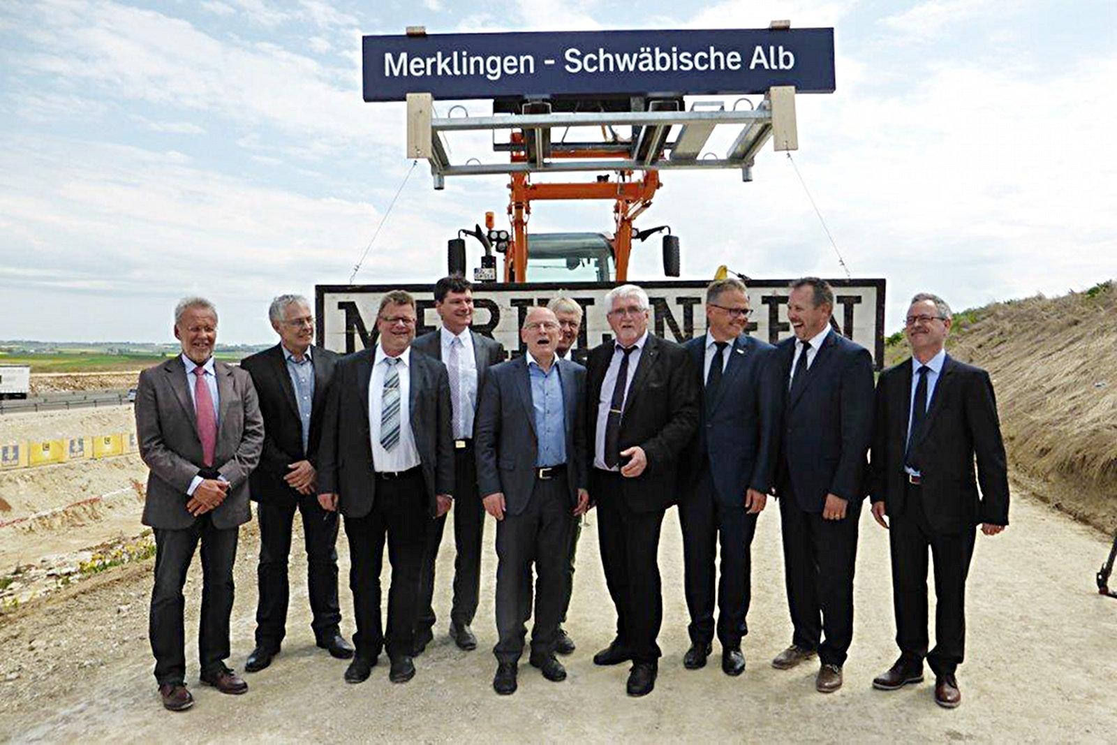 Spatenstich Bahnhof Merklingen - Schwäbische Alb