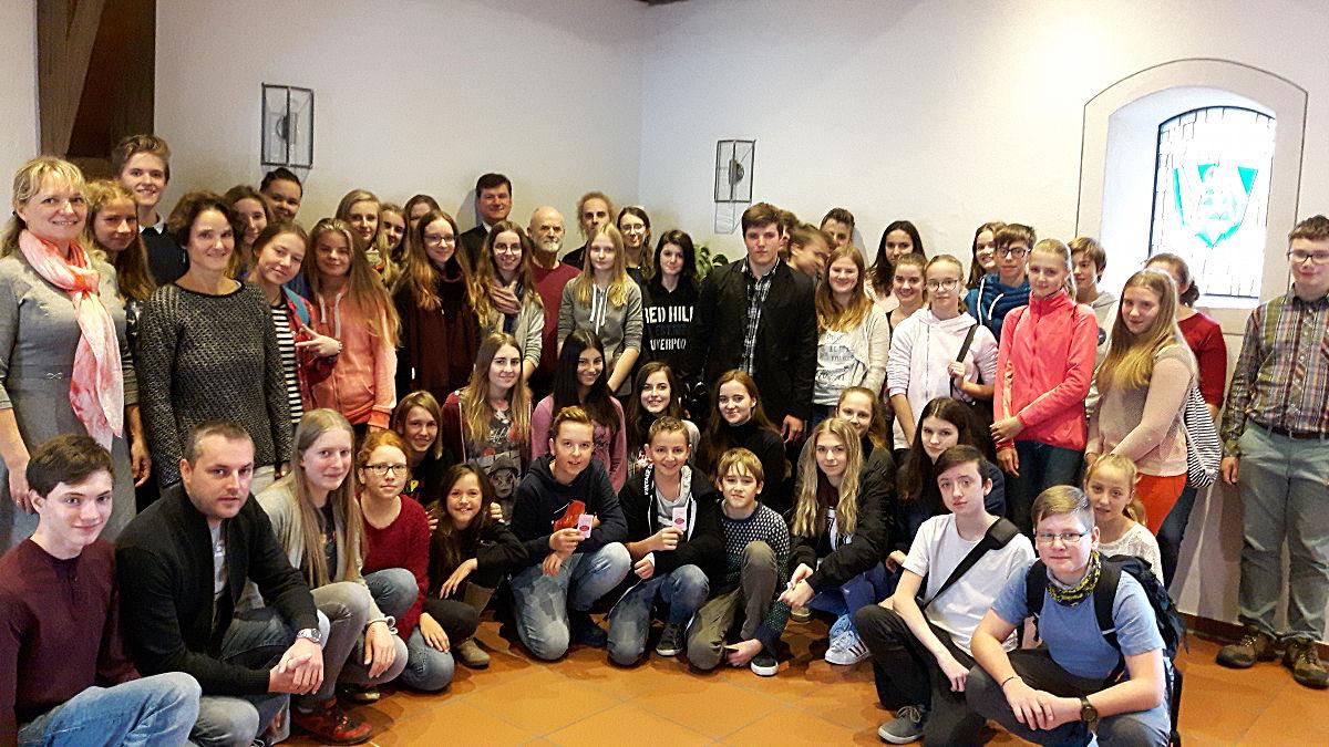 Empfang des Schülerchores aus Tschechien im Alten Rathaus am 10. Oktober 2017