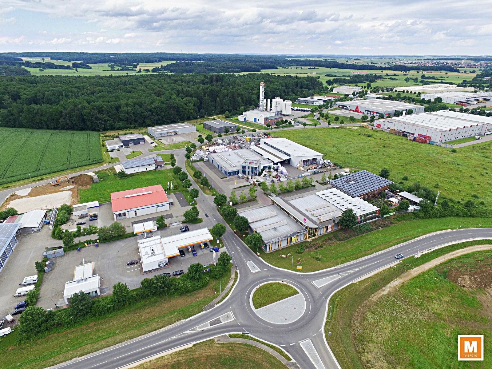 Industrie- und Gewerbegebiet in Laichingen