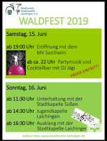 Flyer Waldfest