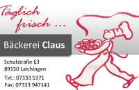 Bäckerei Claus Logo