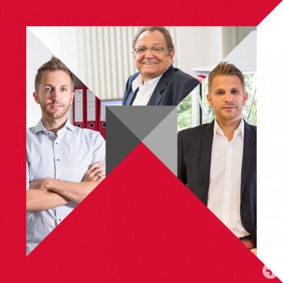 Die Geschäftsführer Werner, Steffen und Niko Kirsamer