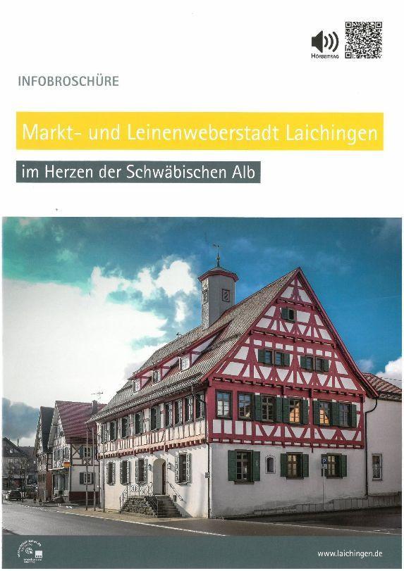 Infobroschüre  der Markt- und Leinenweberstadt Laichingen