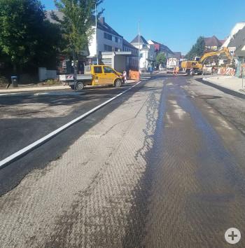 Bauarbeiten in der Bahnhofstraße