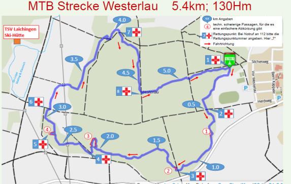 Mountainbikestrecke Westerlau