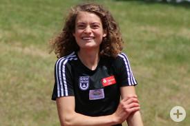 Alina Reh hat Freude am Staffellauf