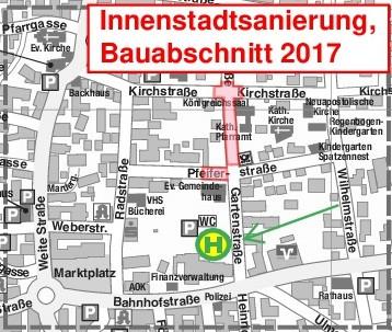 Innenstadtsanierung, Bauabschnitt 2017
