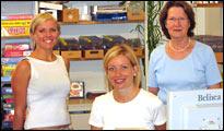 v.l.n.r. Anna Aschoff, Marion König, Helke Roller
